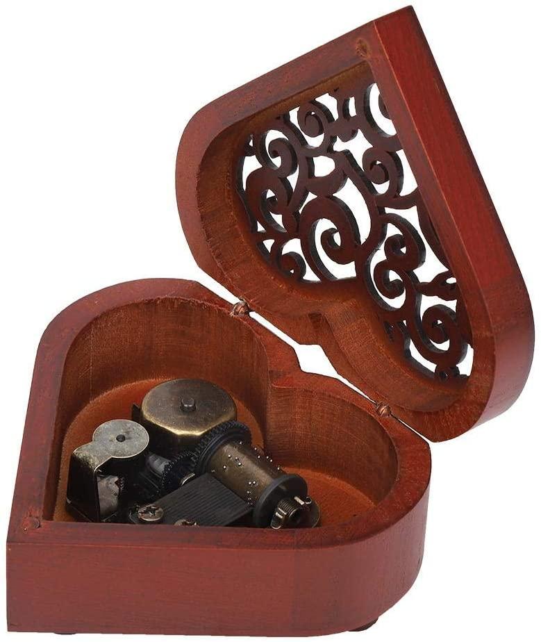 keyren Wooden Music Box, Kids Gift Musical Box, Heart Shaped Christmas for Birthday(Castle in The Sky)
