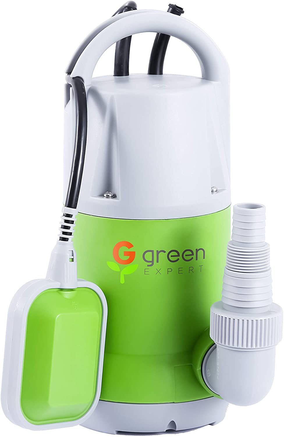 【USA Stock】Green Expert 3/4HP Submersible Sump Pump Max 3962GPH High Flow with Tethered Float Switch and Portable Integrated Plastic Handle for Water Removal Heavy Duty Basement Water Transfer