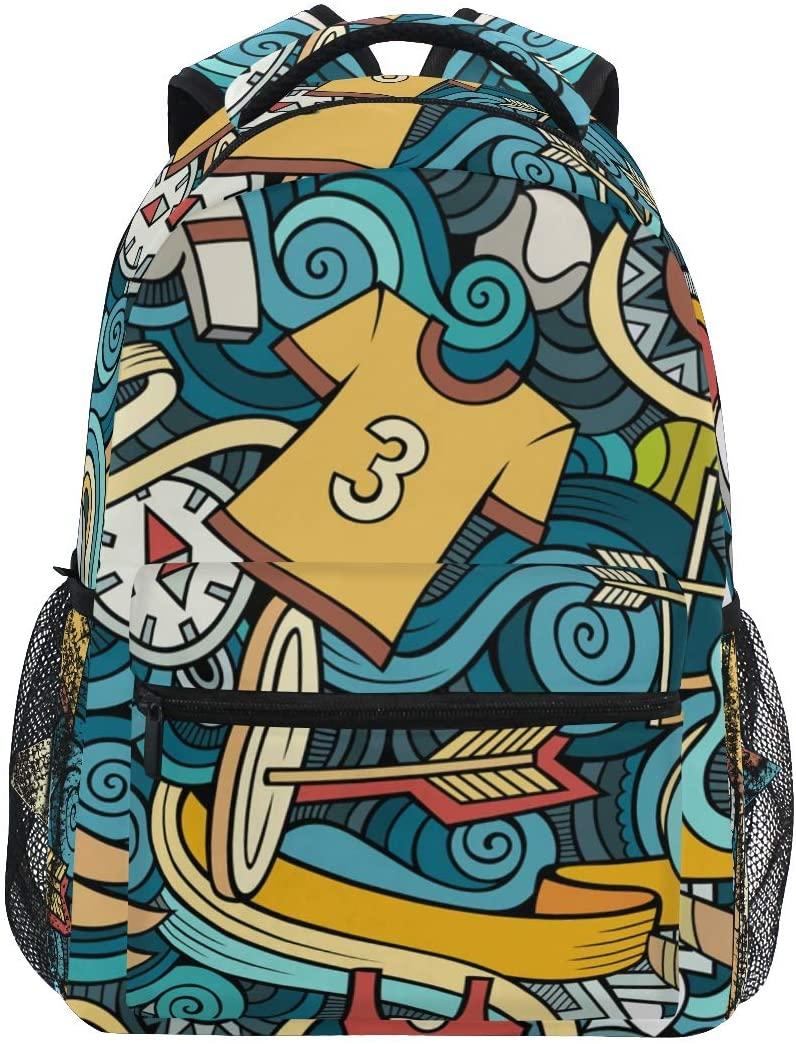 Mr.Lucien Sport Backpack Compass School bag BookBag for Boys Girls 2021367