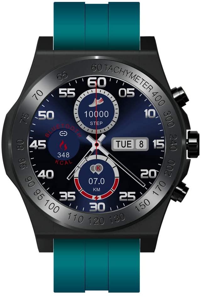 Smart Watch ,CK25, Smart Bracelet, Sports Statistics, Heart Rate,Blood Pressure, IP67 Waterproof,1.3inch Screen, high-Strength Carbon Fiber Shell (Green)