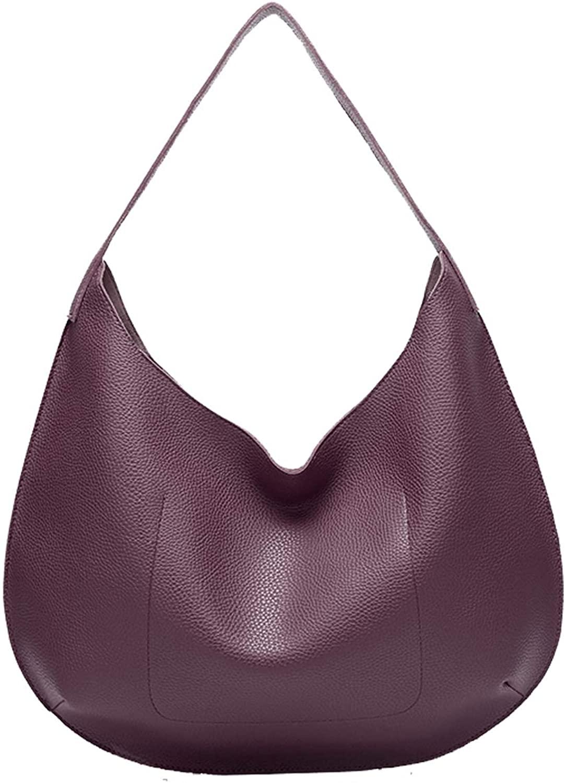 QUEENSHOW Ladys Fashion Soft PU Leather Handbag Hobo Bag Tote Bag Shoulder Bags for Women
