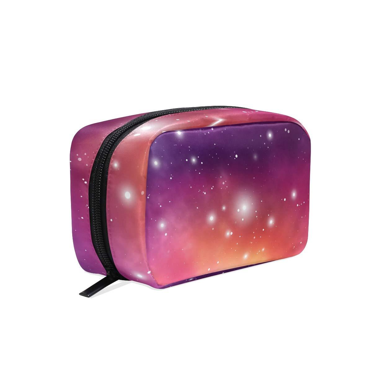 Makeup Bag Portable Travel Cosmetic Bags Purple Starlight Storage Bag for Women Skincare Makeup Train Case