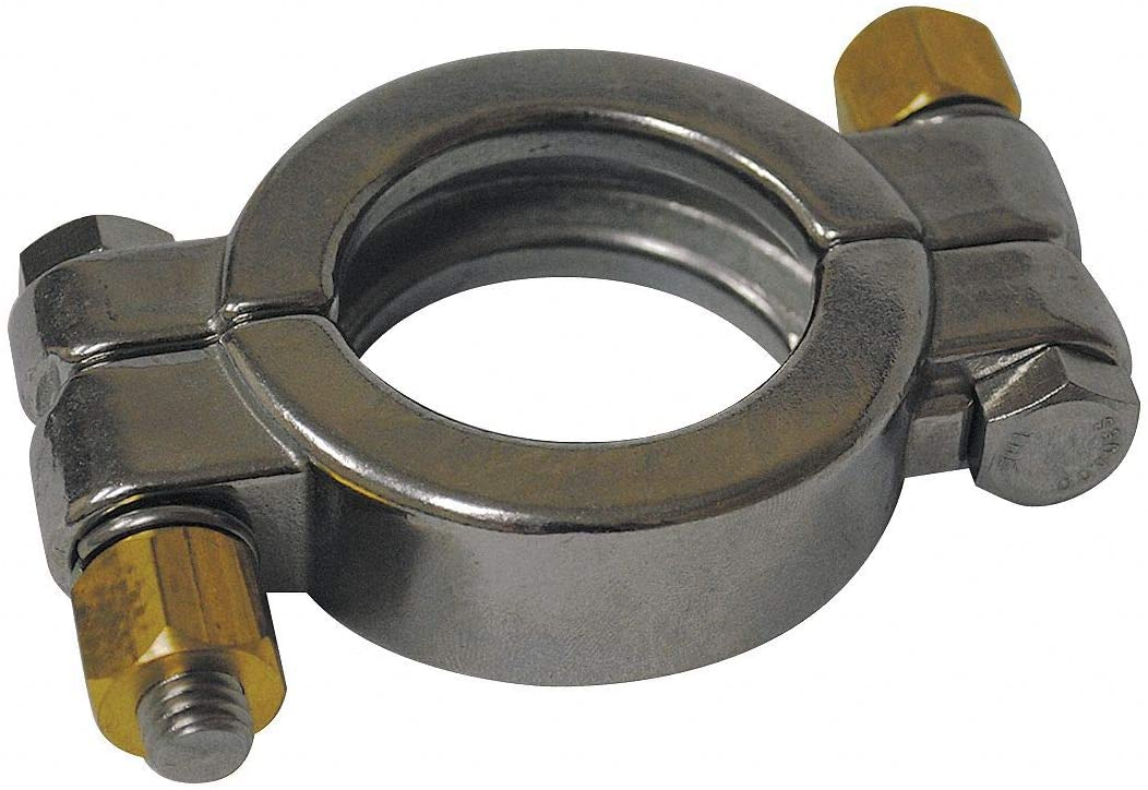 T304 Stainless Steel High Pressure Clamp, For Tube Size: 1/2 and 3/4