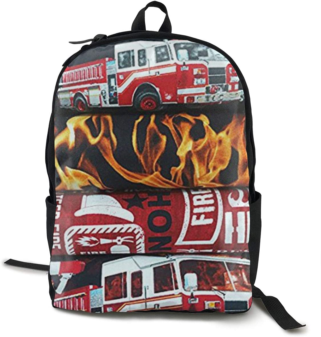 NiYoung Men Women Laptop Backpack Business Travel Anti Theft Daypack Durable College School Bookbag Computer Backpack, Fire Fighter Truck