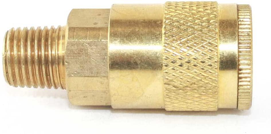 Interstate Pneumatics CA441B 1/4 Inch Automotive Brass Coupler 1/4 Inch Male NPT