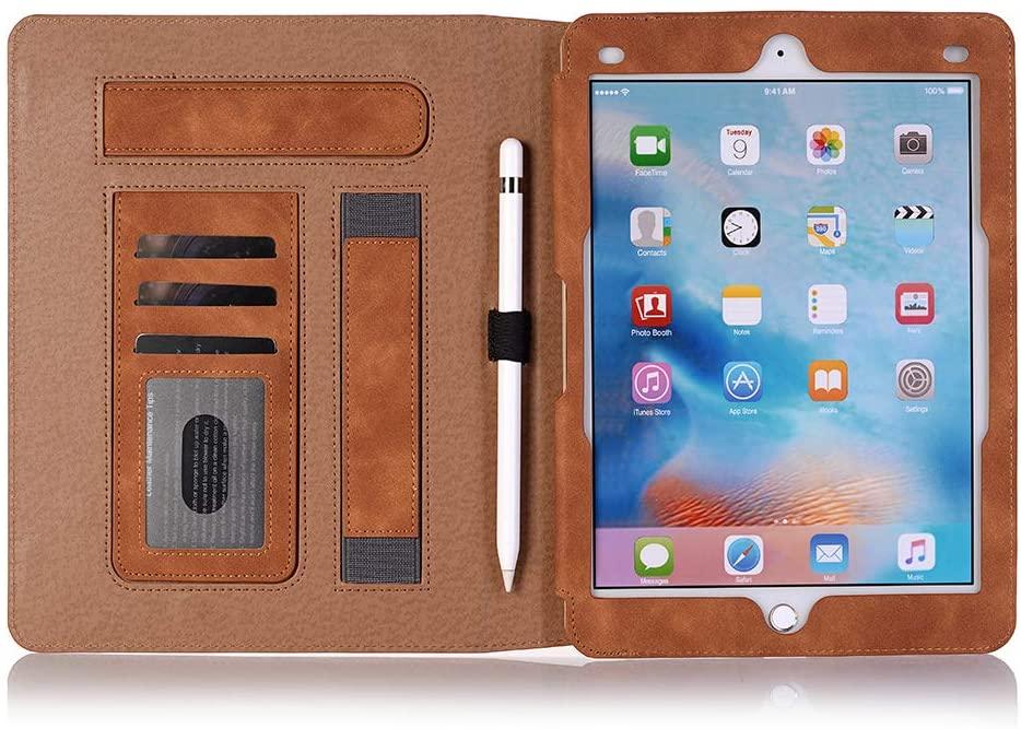 Xiaoai iPad 9.7 inch Case, Slim Stand with Auto Sleep/Wake Magnetic Smart Cover for iPad 9.7 2018/iPad 9.7 2017/iPad Pro 9.7/iPad Air 2/iPad Air (Light Brown)