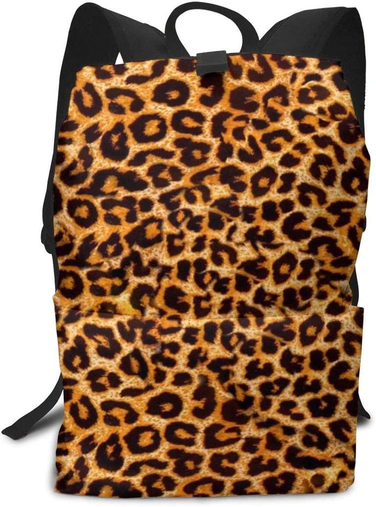XUJ YOGA Leopard Print Laptop Outdoor Backpack Travel Hiking Camping Rucksack Casual Large College School Daypack Shoulder Book Bag for Men Women Boys Girls
