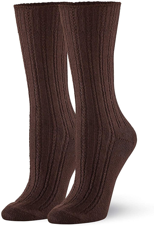 HUE womens Temp Tech Tuck Stitch Ribbed Sock