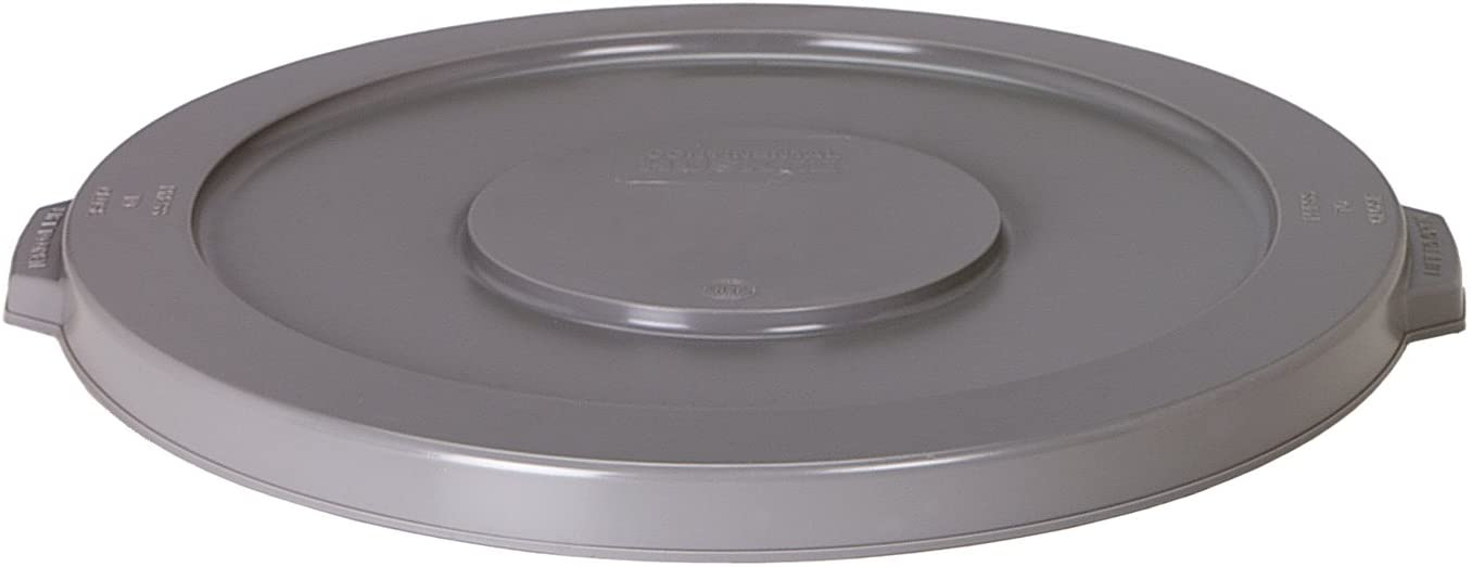 Continental 3201 Huskee 32 Gallon Round Trash Can Lid Only, Grey