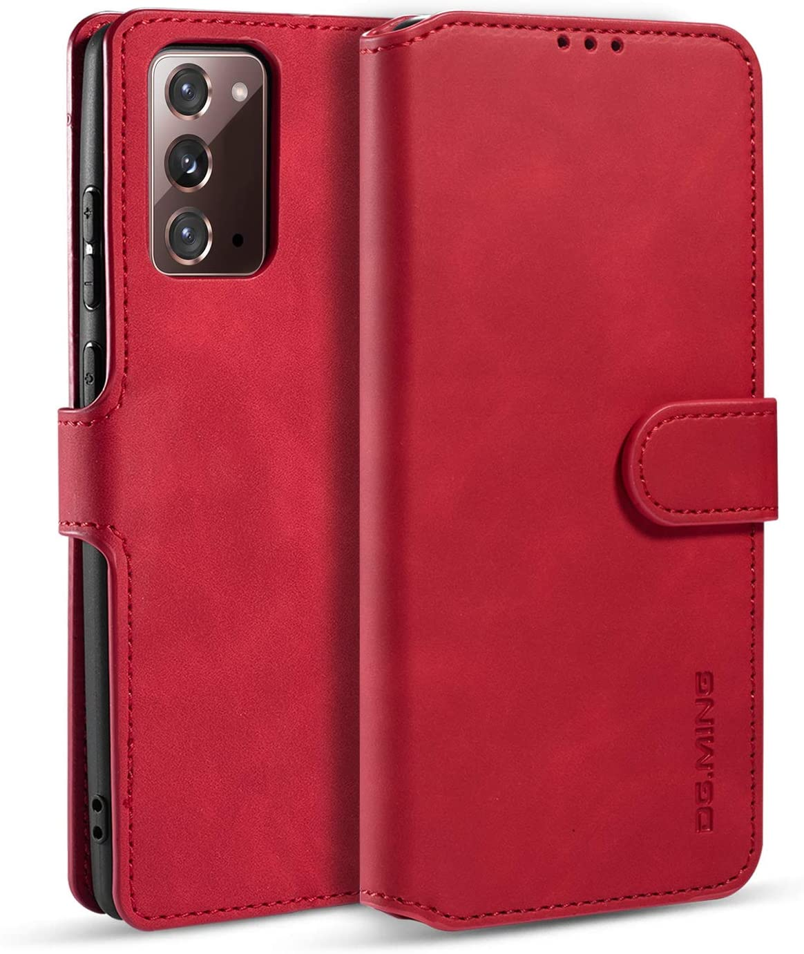 DG.MING Wallet Case for Huawei Mate 30, Premium Leather Wallet Phone Case Vintage Leather with Viewing Stand & 3 Card Holder Flip Folio Cover with Card Slot