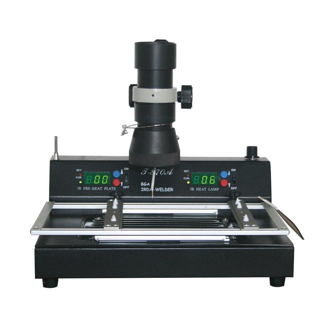 Rhegeneshop New 110V T870A BGA IRDA Iron Welder Infrared Heating Rework Soldering Station