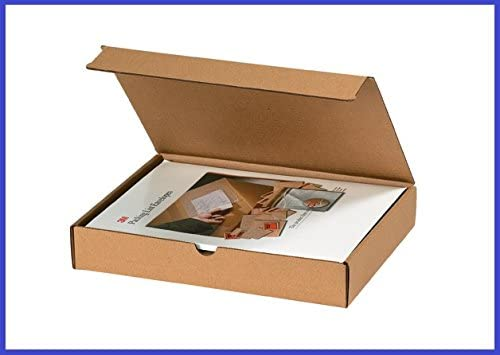 BoxYeah 50 Pack - Kraft Corrugated Literature Mailer Shipping Boxes - 42 Sizes to Choose - Example (10 x 6 x 4)