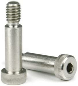Socket Head Shoulder Screw, 1/4 inch x 5/16 inch, 18-8 Stainless Steel, 10-24 Thread Size (Quantity: 500 pcs), Shoulder Diameter: 1/4 inch, Shoulder Length: 5/16 inch, Coarse Thread