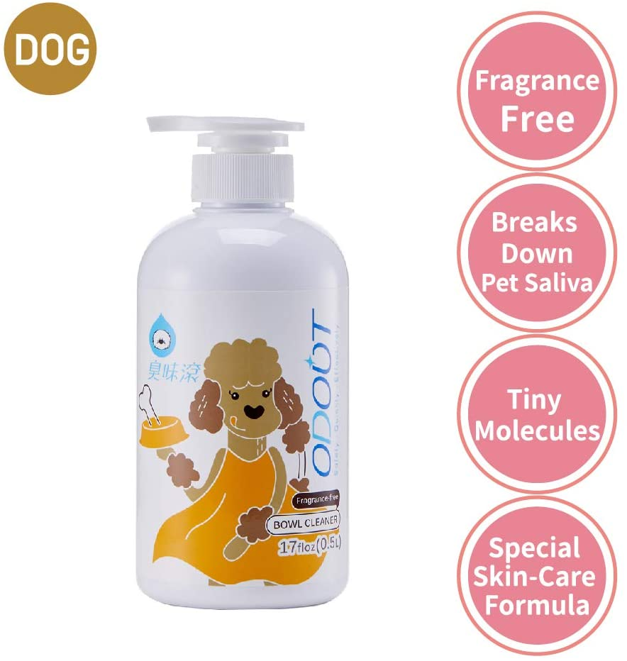 ODOUT Bowl Cleaner for Pet, Colorless & Fragrance-Free, No-Toxic Formula, Eco-Friendly,Toy Disinfect, Hand Care, Suitable for All Materials, 16.9oz/500ml