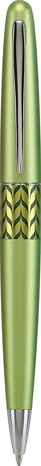 PILOT MR Retro Pop Collection Ballpoint Pen in Gift Box, Green Barrel with Marble Accent, Medium Point Stainless Steel Nib, Refillable Black Ink (91421)