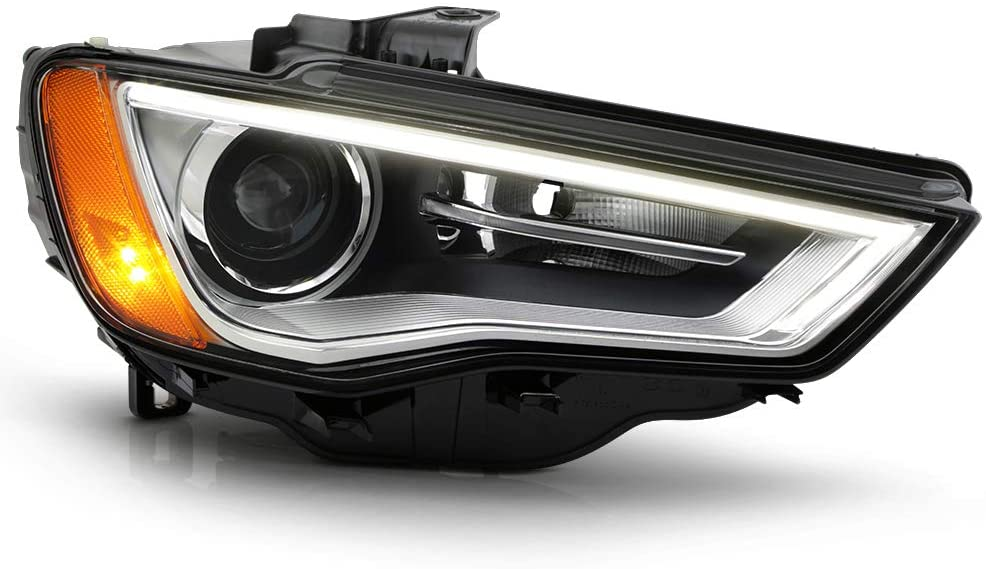 ACANII - For [HID/Xenon Non-AFS] 2015-2016 Audi A3 S3 LED DRL Projedtor Headlight Headlamp Assembly Ri9ght Passenge Side