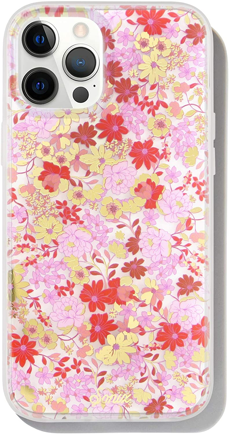 Sonix Vintage Meadow Case for iPhone 12ProMax [10ft Drop Tested] Antimicrobial Women's Protective Floral Clear Cover for Apple iPhone 12 Pro Max