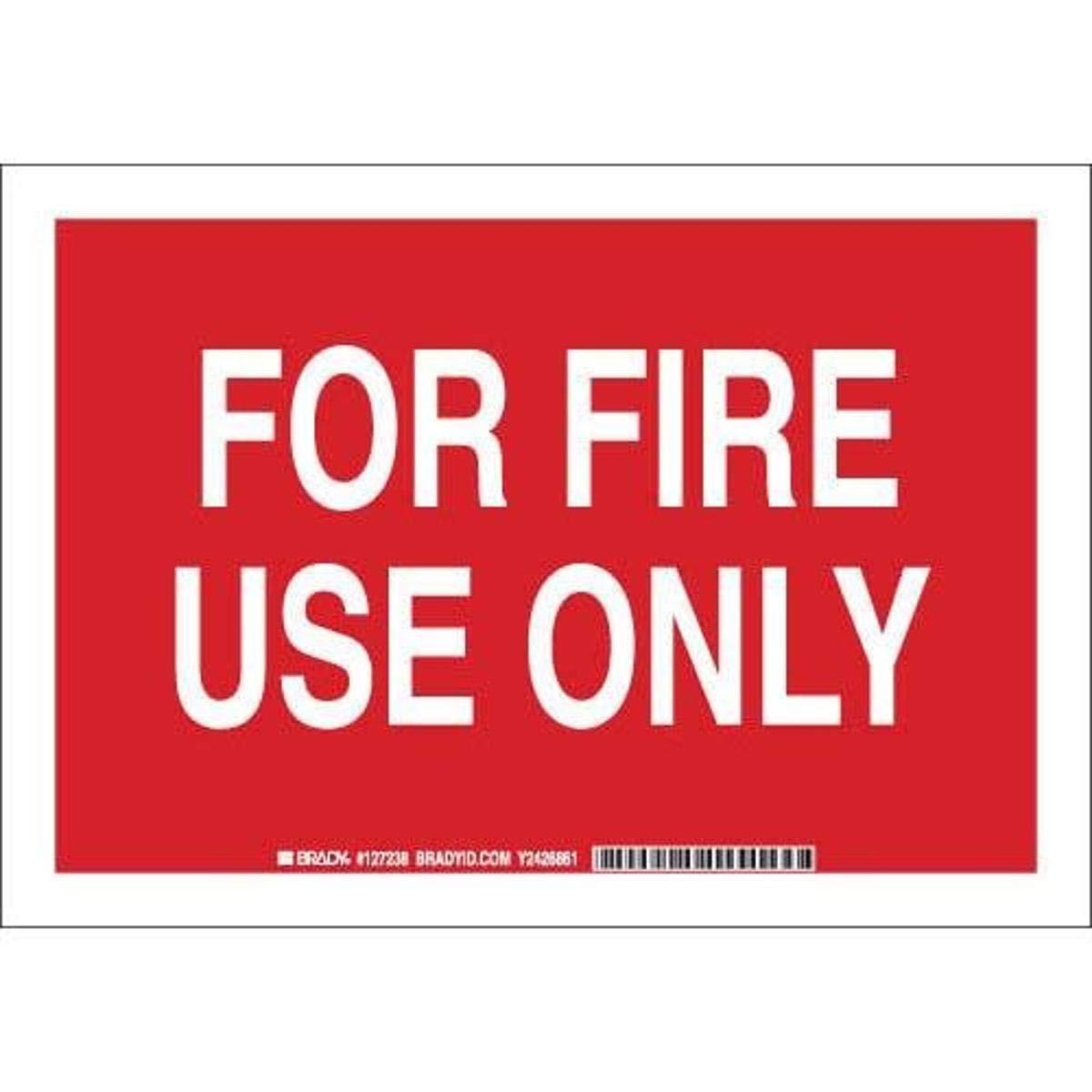 Brady 127236 Fire Safety Sign, Legend
