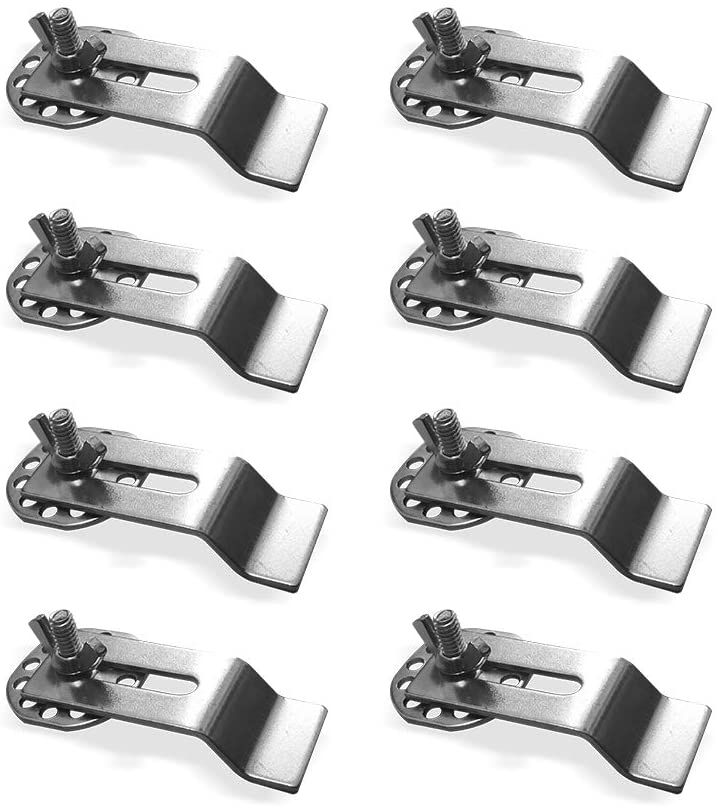 BeaBuy Sink Mounting Clips 8 Pack Kit Undermount Sink Clips Brackets Universal Epoxy Sink Clips Supporting Brackets for Kitchen Marble Granite Countertop Bathroom Vanity Sink