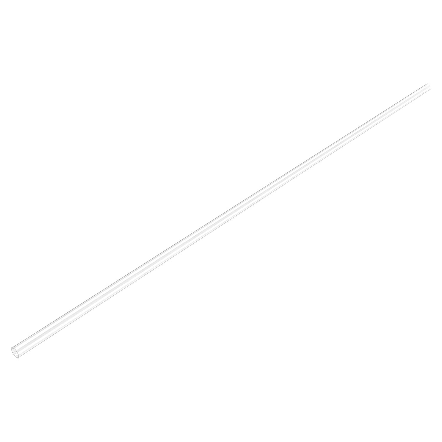 uxcell Polycarbonate Rigid Round Clear Tubing 4mm(0.16 Inch) IDx6mm(0.23 Inch) ODx610mm(2Ft) Length Plastic Tube