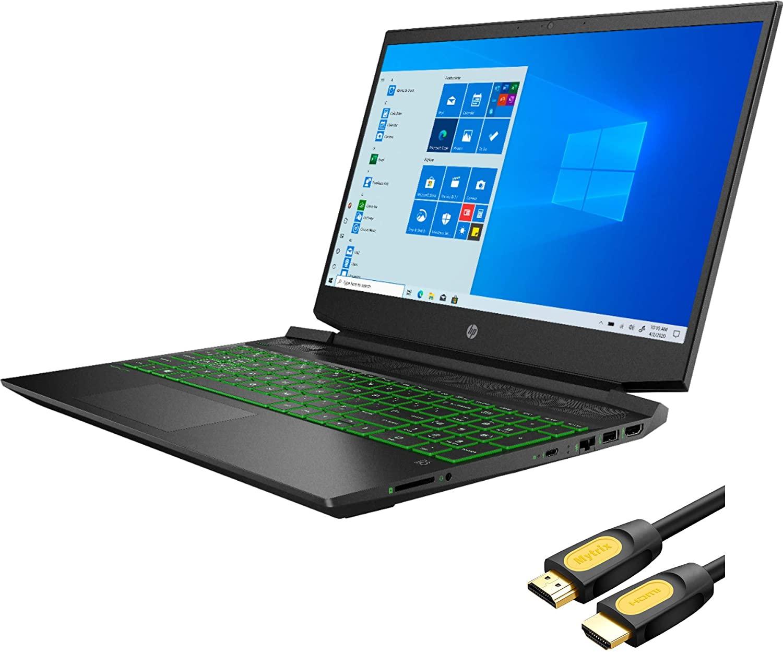 HP Pavilion Gaming 15 Laptop, AMD Ryzen 5 4600H 6-Core up to 4.0 GHz, GTX 1650, 8GB RAM, 512GB PCIe NVMe SSD, 15.6