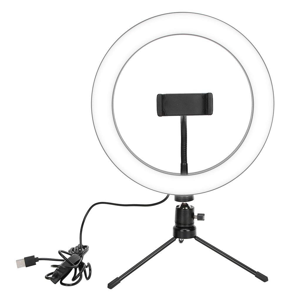 LED Ring Light with Tripod Stand Dimmable LED Live Streaming Ring Light Studio Photography Selfie Makeup Fill Light for Video, Makeup, Selfie, Photography, Live Streaming, Tiktok