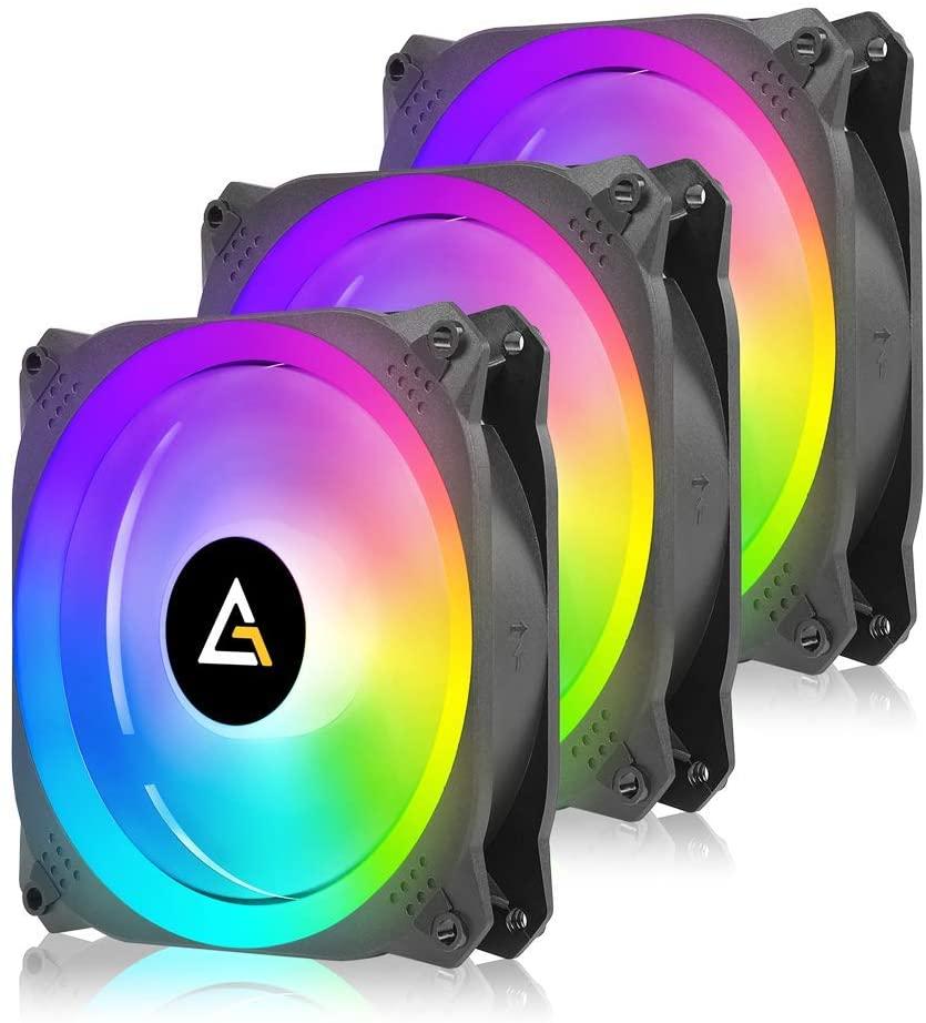 Antec Prizm X 120,RGB Fans, 120mm Case Fan, Addressable RGB Fans, Prizm Series 3 Packs