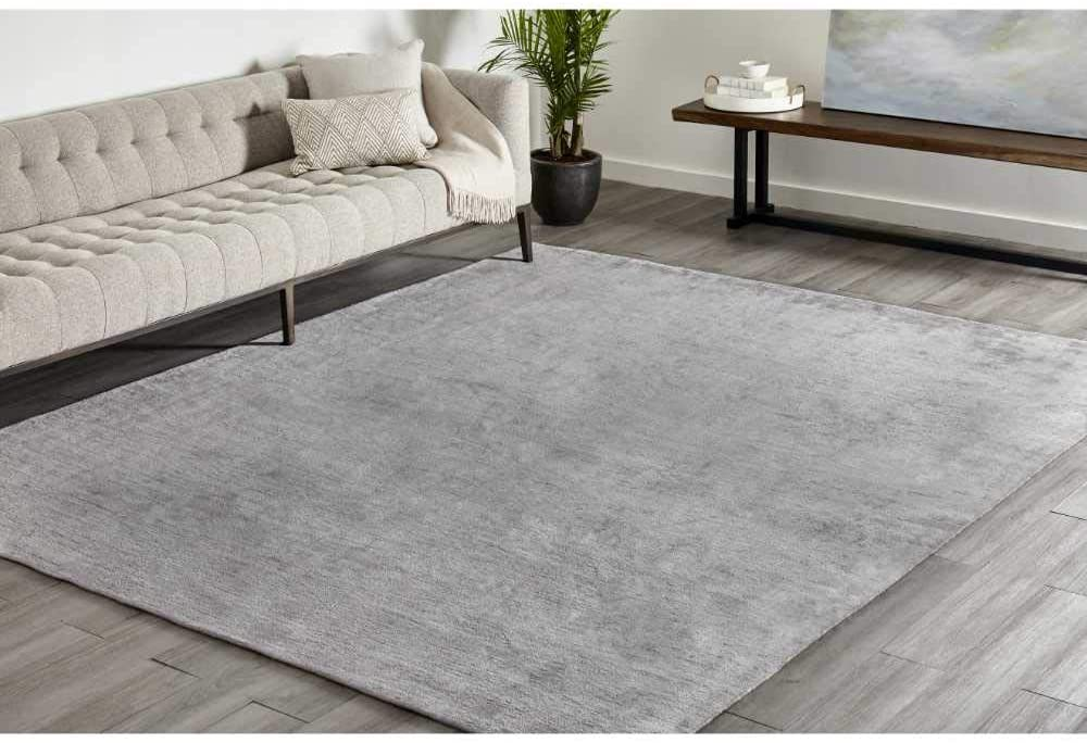 Solo Rugs Lodhi Loom Knotted Area Rug, 8 x 10, Mist