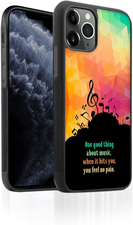 Bufflo Graphics I iPhone 11 Pro Max Phone Case I TPU iPhone 11 Pro Max Case I Protective Tempered Glass Back I Music Quote I Music I Colorful Geometric Triangles