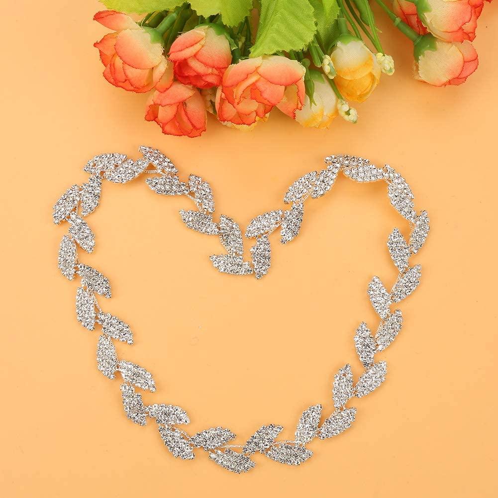 keyren Teal Rhinestone Ribbon Material Diamond Rhinestone Ribbon Wrap Roll for Home Textile