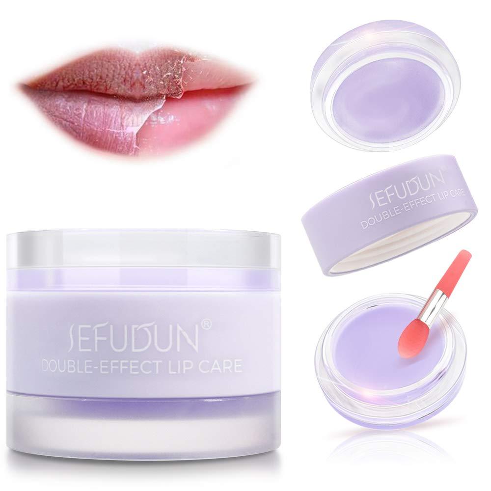 Lip Mask Hydrating & Lip Scrub Double Effect,Lip Sleep Mask,Effectively Remove Dead Skin and Intensive Lip Repair Treatment,Nourishing Hydrating,Fades Lip Lines,Brighten Lip Color,Lip Makeup Primer