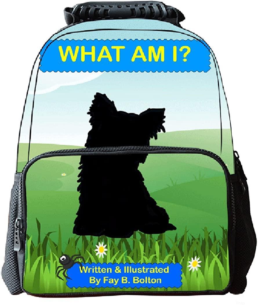 Ankoee Unisex 3D Print Wolf Animal School Bag Student Backpacks