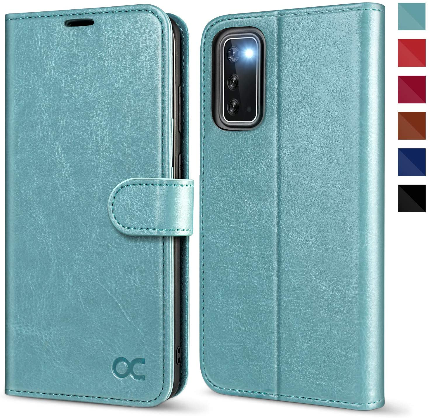 OCASE Galaxy S20 Case, Galaxy S20 Wallet Case, PU Leather Folio Flip Case with RFID Blocking Card Holders Kickstand Magnetic Closure, Shockproof Phone Cover for Samsung Galaxy S20 6.2 Inch-Mint Green