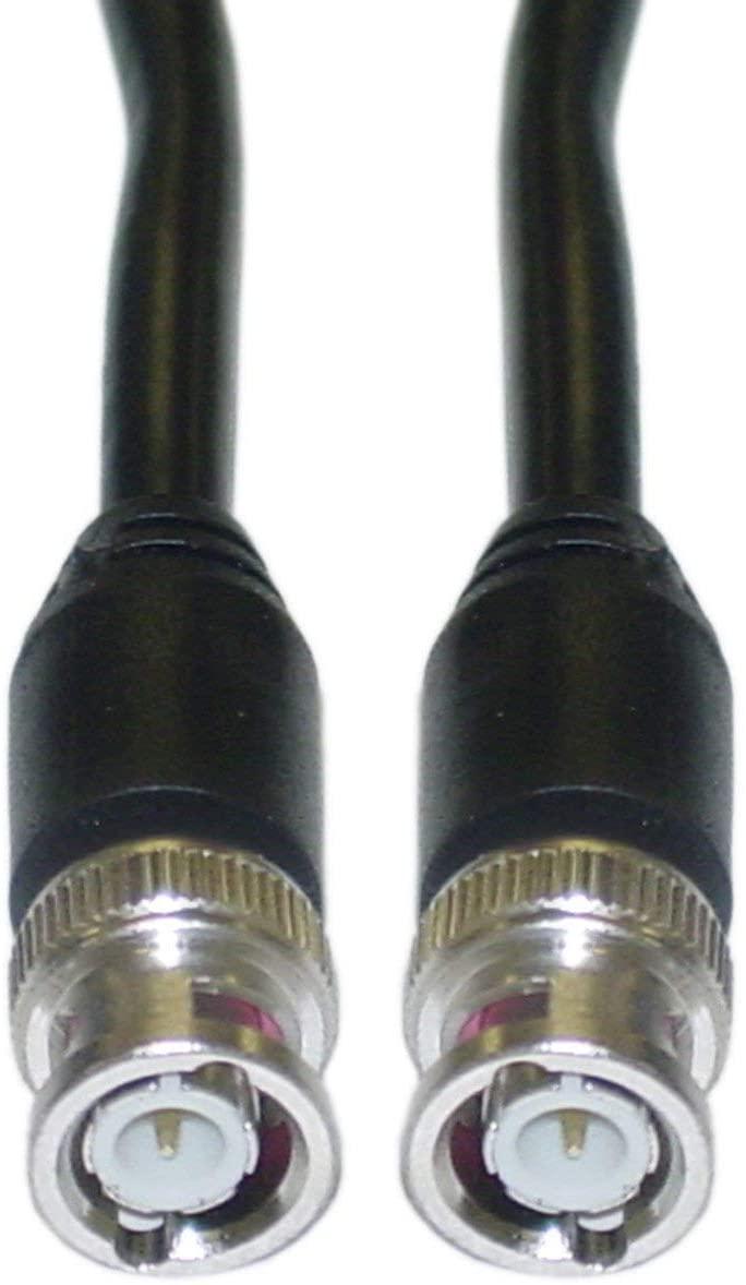 GOWOS BNC RG59/U Coaxial Cable, Black, BNC Male, 75 Feet - 10 Pack