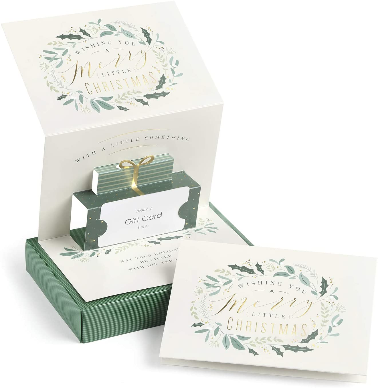 Masterpiece Studios Holiday Collection 10-Count Pop-Up Gift Greeting Gift Card Holders with Envelopes, 5