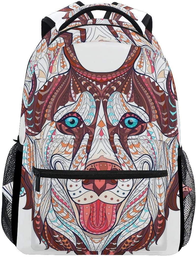 Stylish Wolf Vintage Backpack- Lightweight School College Travel Bags, ChunBB 16