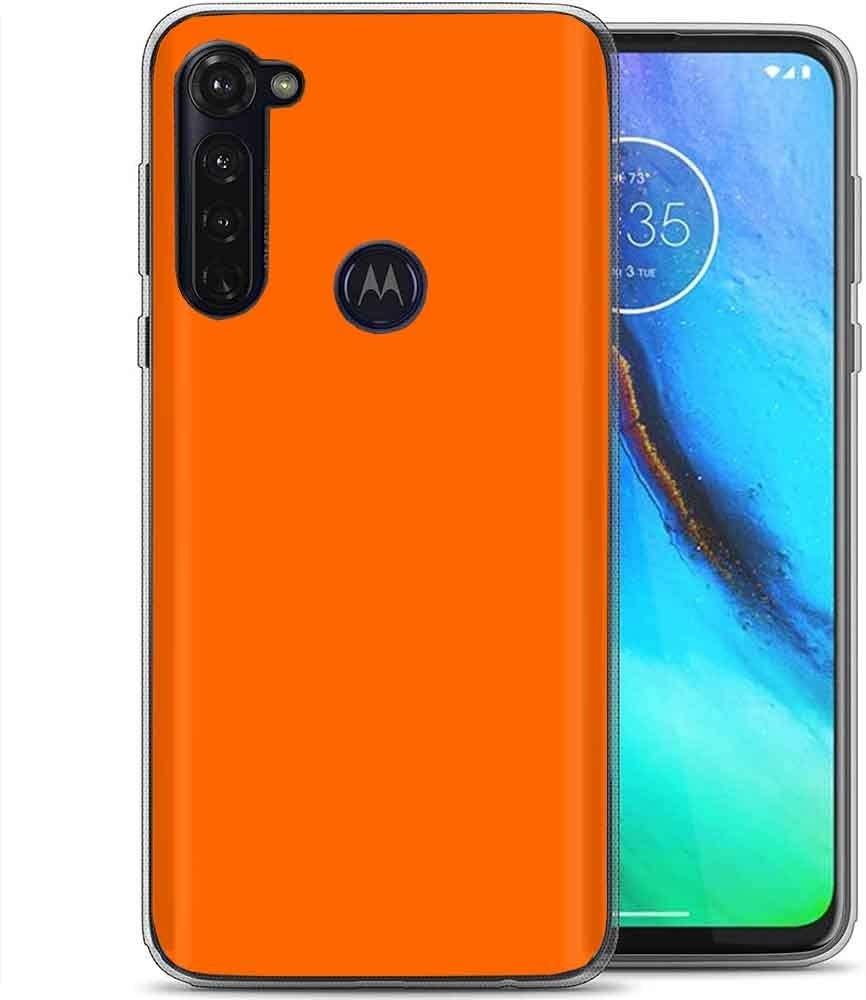 TalkingCase Clear Thin Gel Phone Case for Motorola Moto G Stylus,Orange Print,Light Weight,Ultra Flexible,Soft Touch,Anti-Scratch,Designed in USA
