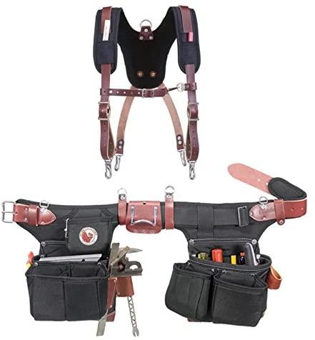 Occidental Leather 9515 Adjust-to-Fit Oxy Light Framer Tool Belt Set Bundle w/ 5055 Stronghold Suspension System (2 Pieces)