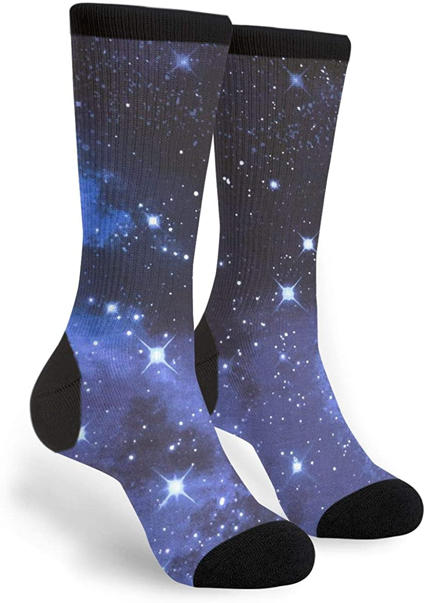 Starry Little Galaxy Starry Sky Fun Dress Socks Funny Novelty Fashion Crew Socks Beautiful Universe Socking