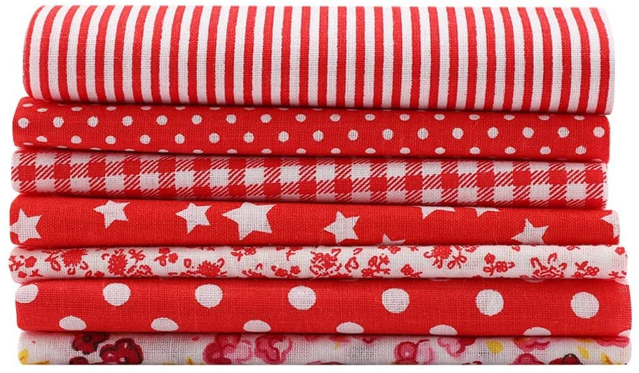 HONG111 Fabric, Fabric Squares Sewing Fabric 2525cm Fabric DIY, Quilting for Crafting Sewing DIY(2525)