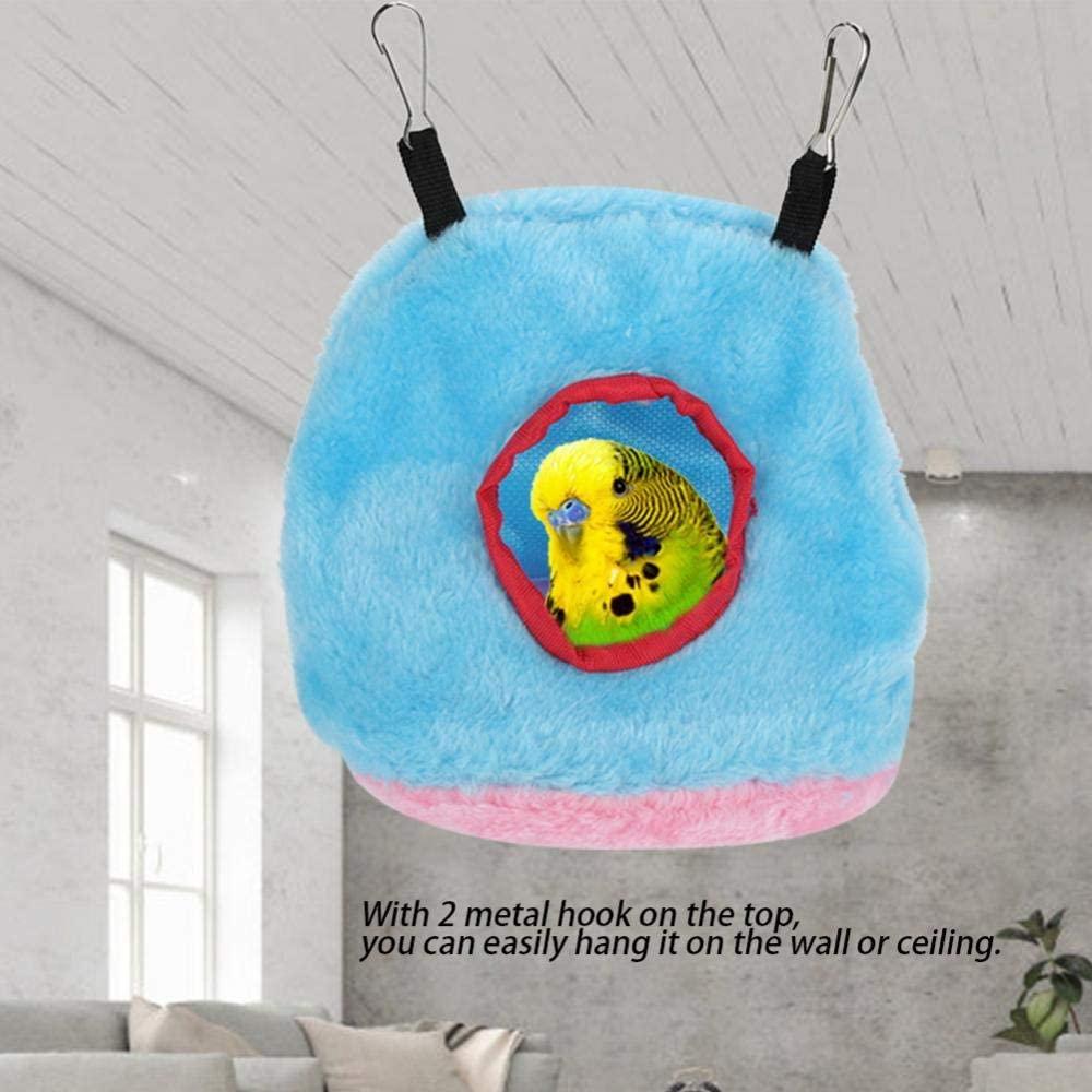 HONG111 Sterilized Natural Coconut Fiber Warm Pet Products Box, Big Nest, Plush Hammock for Bird(Blue, 11)