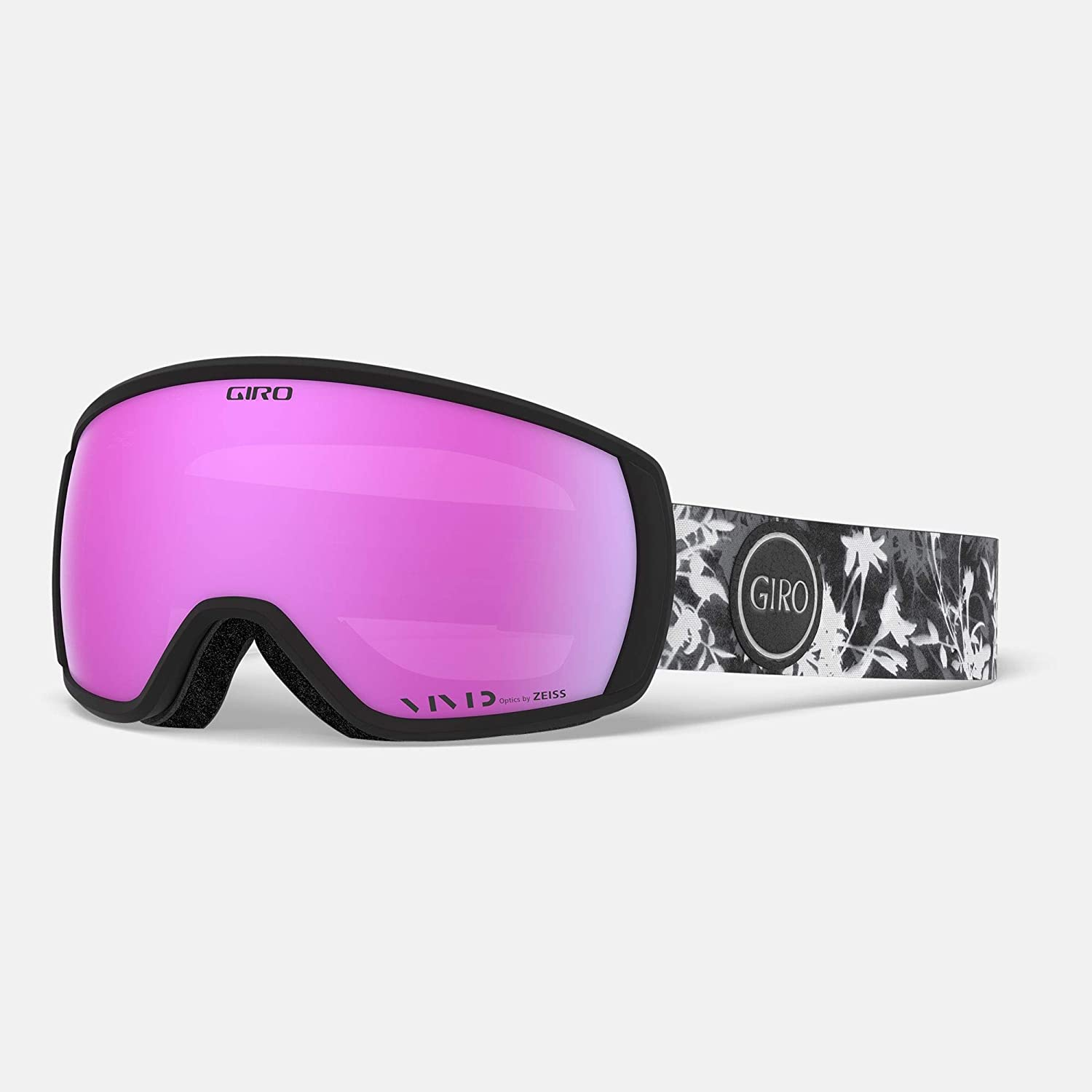 Giro Facet Womens Snow Goggles - Sun Print Strap with Vivid Pink Lens (2020)