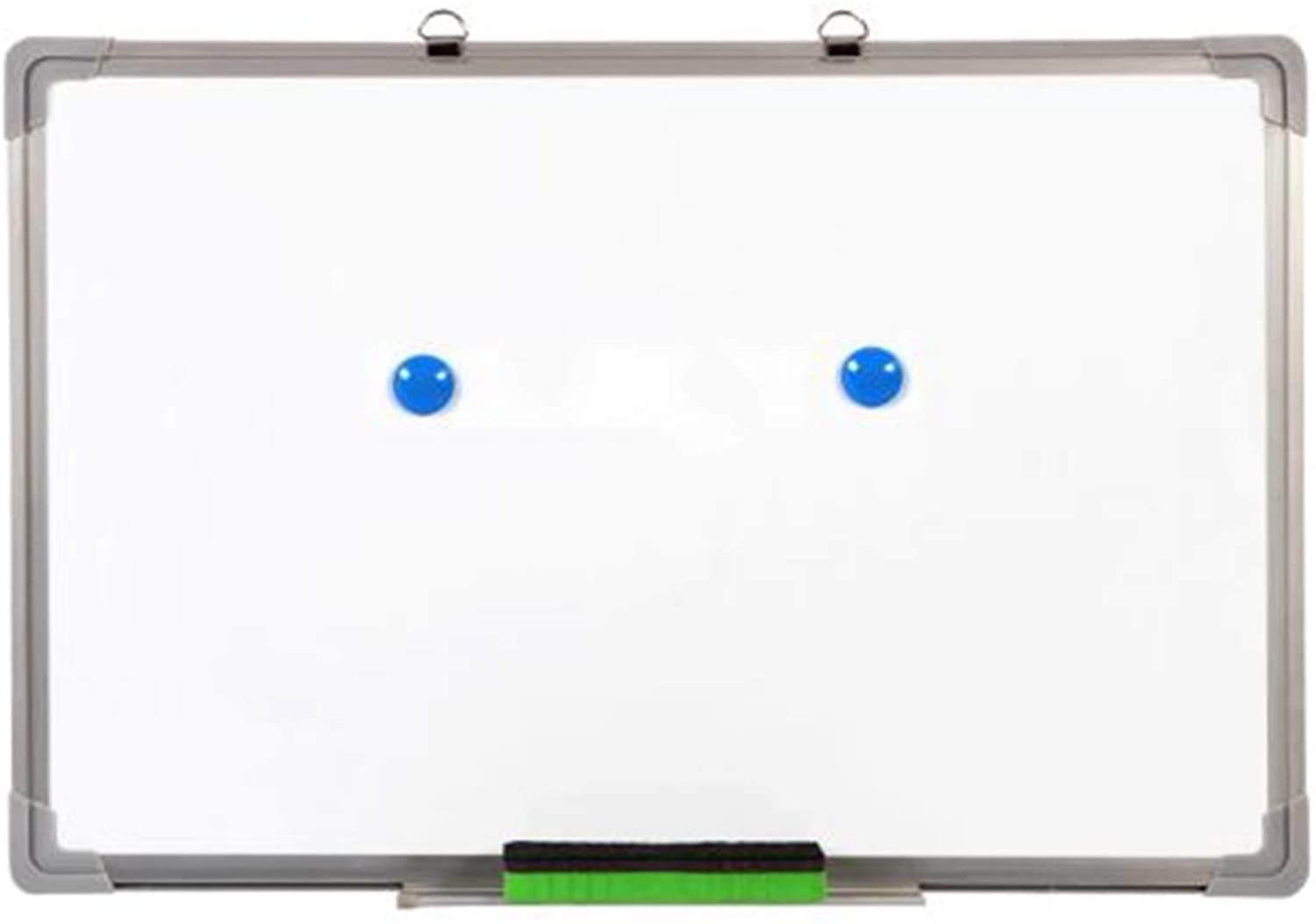 Single Sided Magnetic Dry-Erase Whiteboard with Marker, Eraser, 2pcs Magnets (23.6x15.8)
