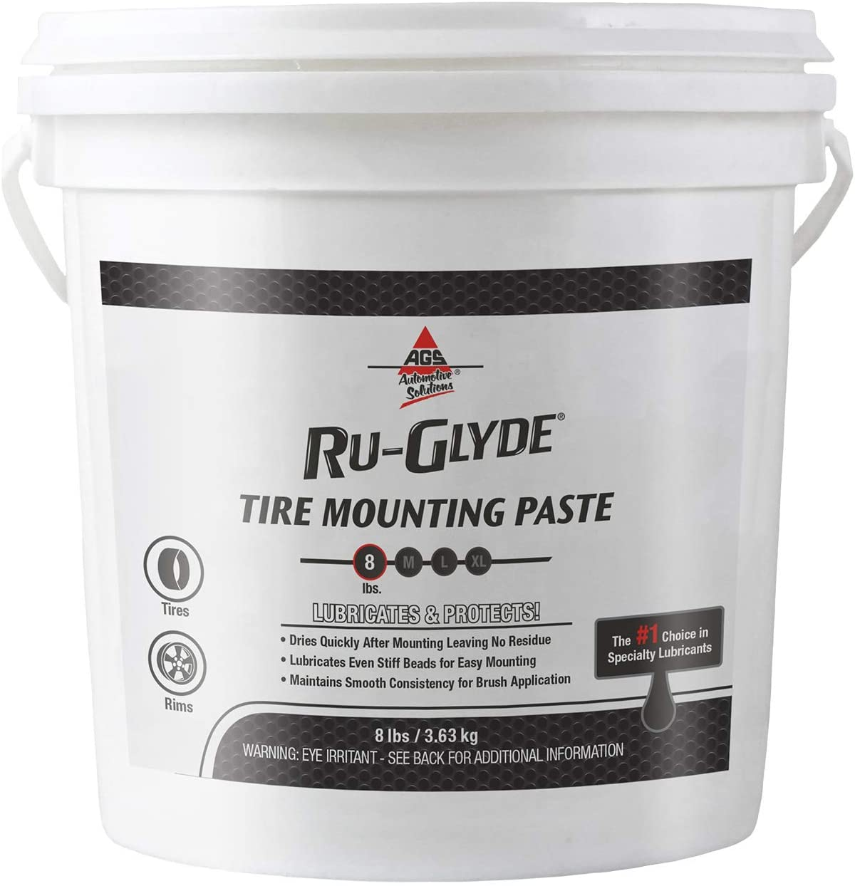 Ru-Glyde Tire Mounting Paste, Pail, 8 lb