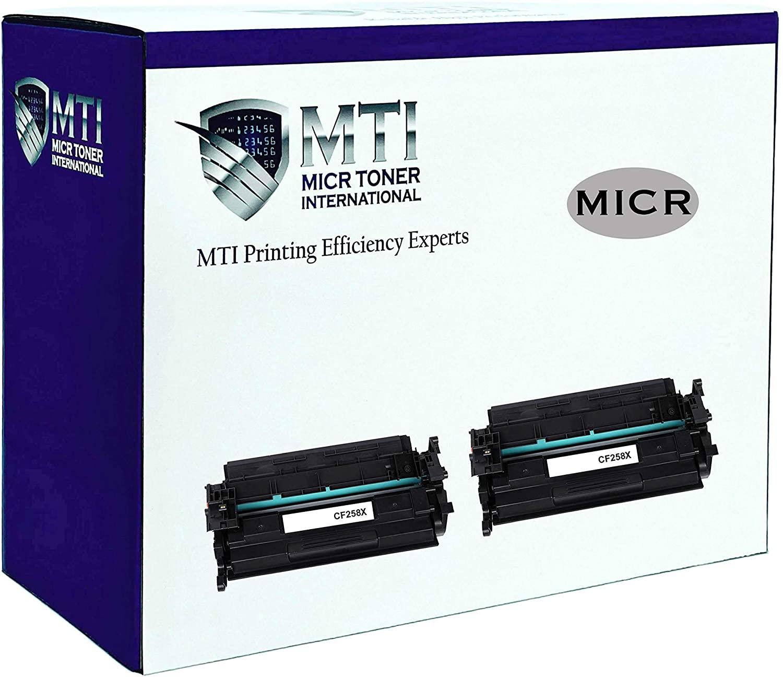 MICR Toner International Compatible Magnetic Ink Toner Cartridge Replacement for HP CF258X 58X Laserjet M404 M428 (2-Pack, No Chip)