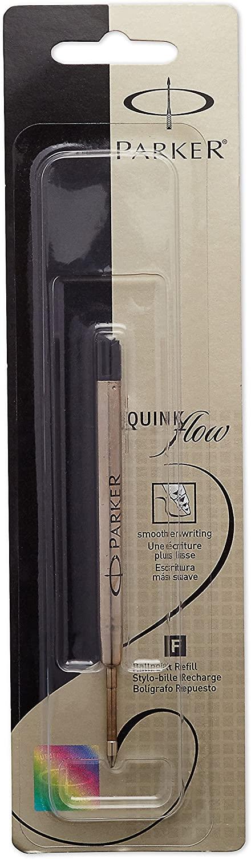 PARKER QUINKflow Ballpoint Pen Ink Refill, Fine Tip, Black, 1 Count