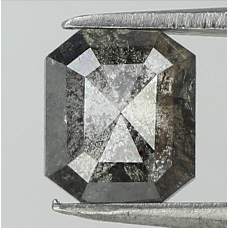 0.62 Ct Natural Loose Diamond Emerald Grey Color I3 Clarity 5.50 MM GRL8192