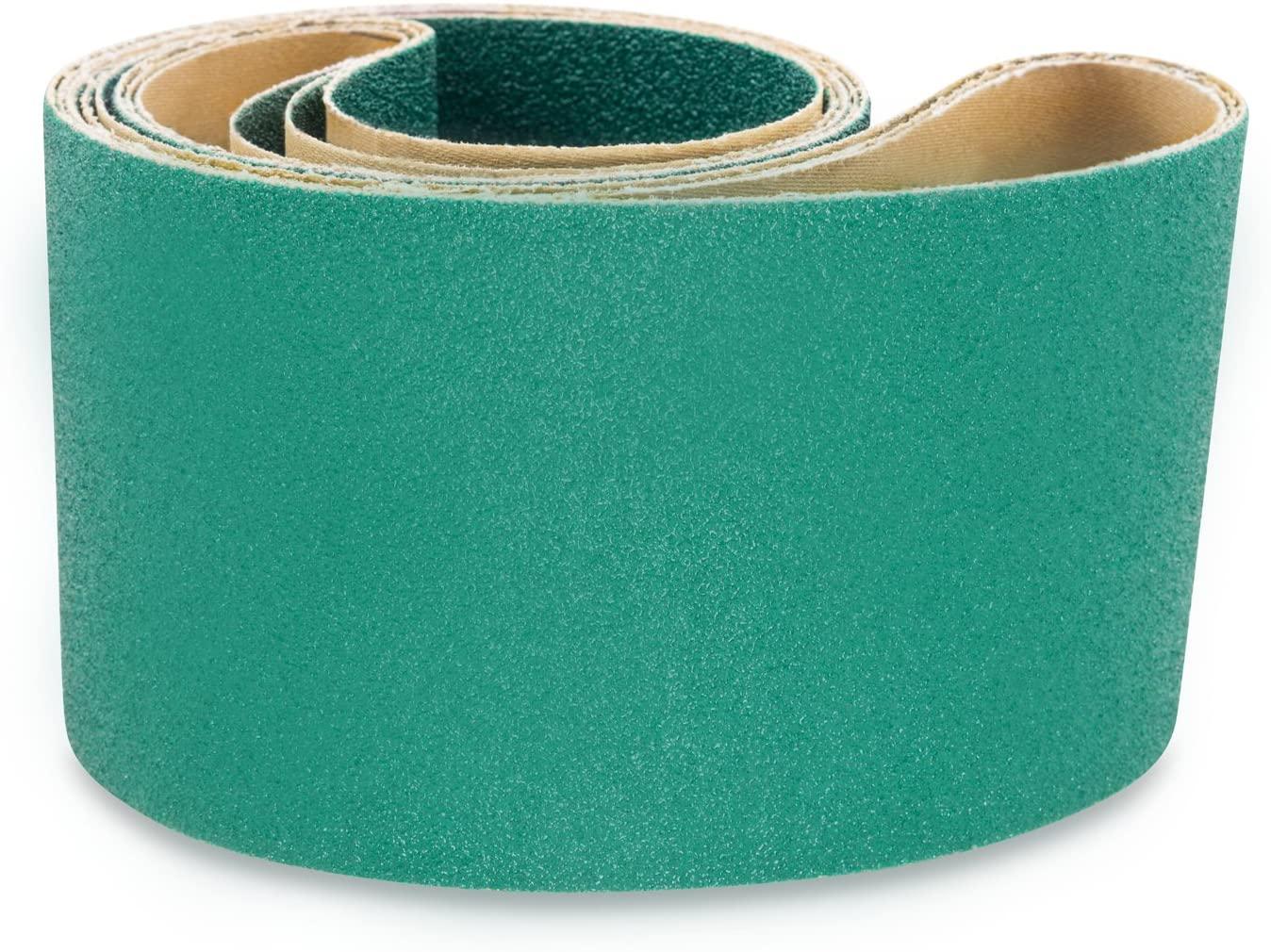Red Label Abrasives 4 X 54 Inch 120 Grit Metal Grinding Zirconia Sanding Belts, 3 Pack