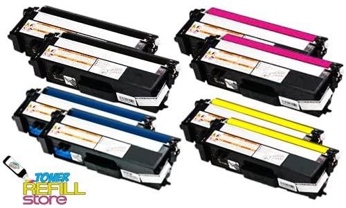 Toner Refill Store 8 Pack TN315BK TN315C TN315Y TN315M Toner Cartridges for Brother HL-4570cdw