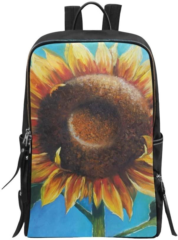 Flowers Modern Art Sunflower Bag Backpack Bag Daypack
